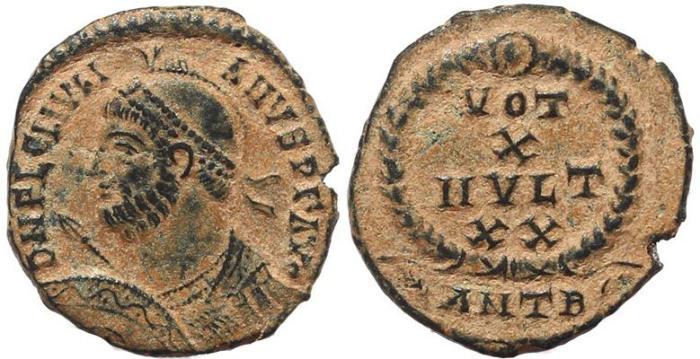Ancient Coins - Choice Roman coin of Julian II The Apostate - VOT X MVLT XX