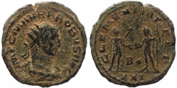 Ancient Coins - Roman coin of Probus Antoninianus - CLEMENTIA TEMP - Antioch