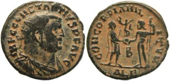 Ancient Coins - Constantius I Chlorus - CONCORDIA MILITVM - Alexandria Mint
