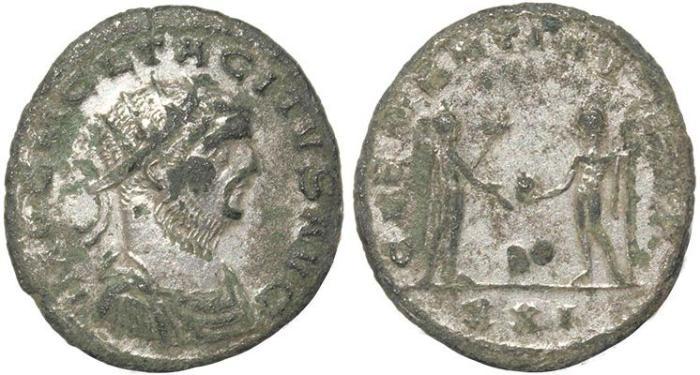 Ancient Coins - Roman coin of Tacitus AE Antoninianus - CLEMENTIA TEMP