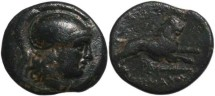 Ancient Coins - Lysimachos, King of Thrace 305-281 BC - Leaping Lion