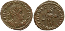 Ancient Coins - Roman coin of Constantine I - SOLI INVICTO COMITI