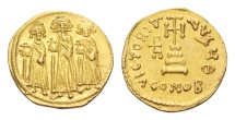Ancient Coins - Byzantine gold coin of Heraclius AV solidus - VICTORIA AVGV - Constantinopolis