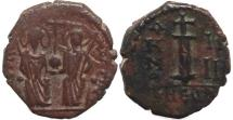 Ancient Coins - Byzantine coin of Justin II and Sophia AE Decanummium - Antioch - Year 5.