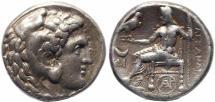 Ancient Coins - Alexander III Tetradrachm struck at the Byblos Mint