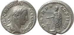 Ancient Coins - Severus Alexander denarius - PM TRP V COS II PP - RIC 55, RSC 289