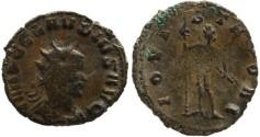 Ancient Coins - Claudius II silvered antoninianus - IOVI STATORI