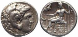 Ancient Coins - Alexander III Tetradrachm struck at the Byblos Mint