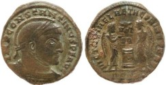 Ancient Coins - Constantine I 307-337AD VICTORIAE LAETAE PRINC PERP - Siscia