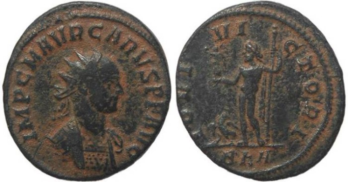 Ancient Coins - Roman coin of Carus - Antoninianus - IOVI VICTORI