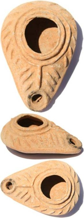 Ancient Coins - Ancient Byzantine Oil Lamp 5th-6th century AD - Center and South of Palestine