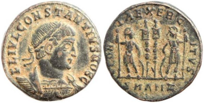 Ancient Coins - Constantius II 337-361AD GLORIA EXERCITVS - Antioch - 3.0 grams
