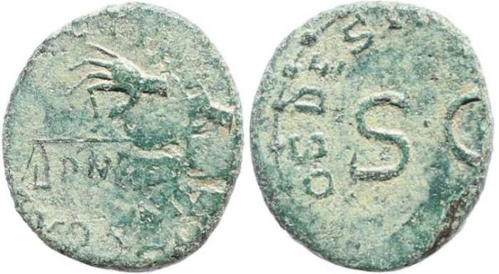 Ancient Coins - Claudius 41-54AD Ae quadrans