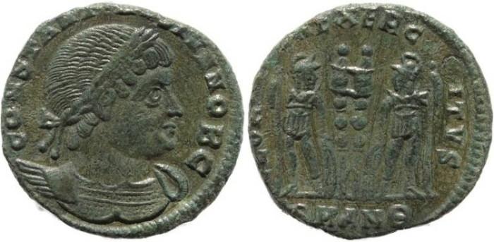 Ancient Coins - Roman coin of Constantine II - GLORIA EXERCITVS - Antioch