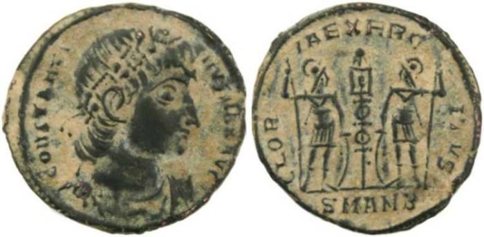 Ancient Coins - Constantine I-  GLORIA EXERCITVS - Antioch Mint