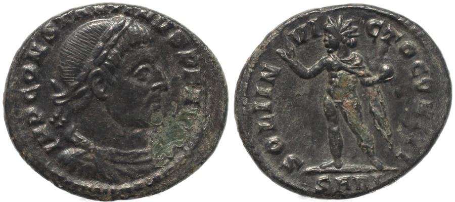 Ancient Coins - Roman coin of Constantine I - SOLI INVICTO COMITI - Arelate