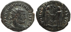Ancient Coins - Roman coin of Maximianus - CONCORDIA MILITVM