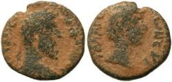 Ancient Coins - MARCUS AURELIUS & LUCIUS VERUS - DECAPOLIS, GADARA, AE19  - RARE