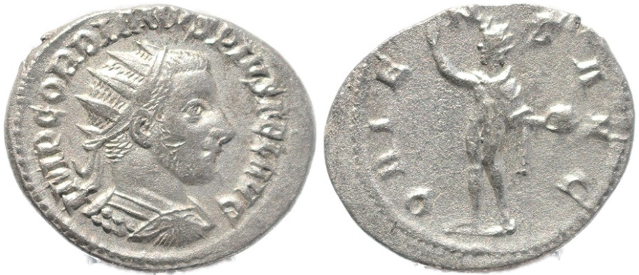 Ancient Coins - Roman coin of Gordian III - ORIENS AVG