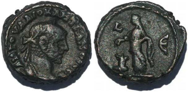 Ancient Coins - Roman Emperor Diocletian Potin Tetradrachm