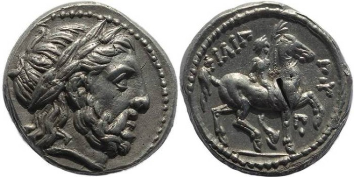 Ancient Coins - Kings of Macedonia, Philip II 359-336BC AR silver Tetradrachm - posthumous issue