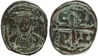 Ancient Coins - Byzantine coin of Romanus IV Ae follis