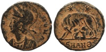 Ancient Coins - Roman coin - VRBS ROMA commemorative issue with Wolf and Twins