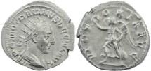 Ancient Coins - Trajan Decius AR Antoninianus - VICTORIA AVG