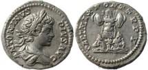 Ancient Coins - Caracalla AR Denarius - PART MAX PONT TRP V