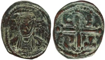 Ancient Coins - Byzantine coin of Romanus IV Ae follis