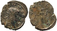 Ancient Coins - Gallienus silvered antoninianus - AEQVIT AVG
