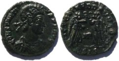 Ancient Coins - VF+ Constantius II 337-361AD, two victories, Siscia Mint