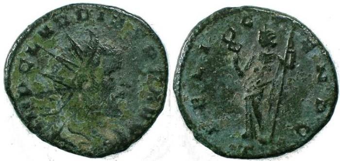 Ancient Coins - Claudius II Gothicus Billon antoninianus, Milan, 268-269 AD