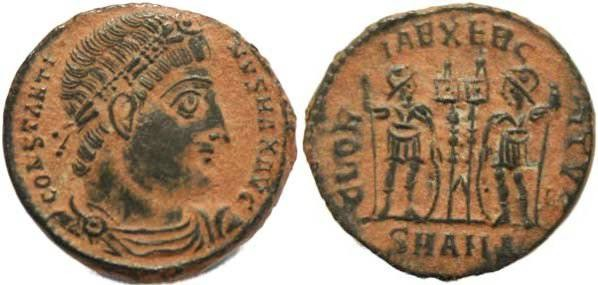 """Ancient Coins - EF+ Constantine I """"The Great"""" 307-337AD Ae 18 - Antioch Mint"""