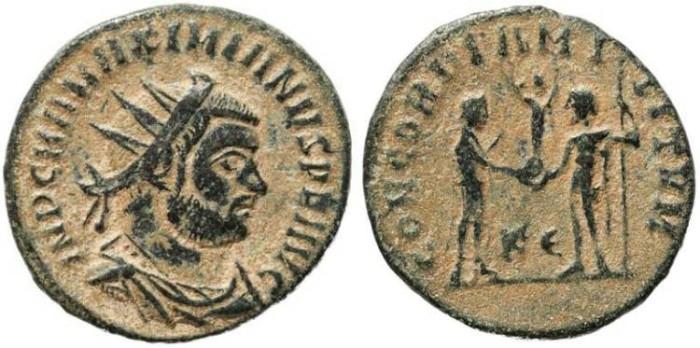 Ancient Coins - Roman Empire - Maximian - CONCORDIA MILITVM
