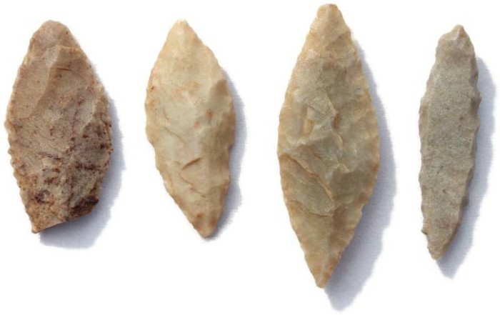 Ancient Coins - 4 Ancient Neolithic Arrowheads from the Sahara 5000BC