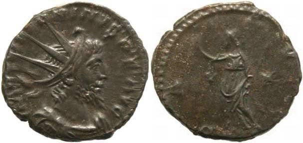 Ancient Coins - Victorinus 268-270AD antoninianus -  PAX AVG