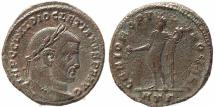 Ancient Coins - Roman coin of Diocletian Ae large silvered follis - GENIO POPVLI ROMANI - Heraclea