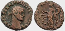 Ancient Coins - Diocletian Potin Tetradrachm minted in Alexandria, Egypt - Year 2, 285-286 AD.