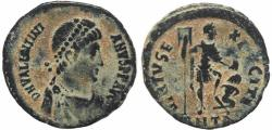 Ancient Coins - Roman coin of Valentinian II Ae2 - VIRTVS EXERCITI - Antioch