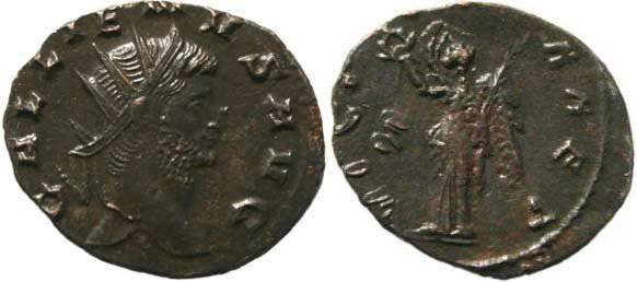 Ancient Coins - Gallienus Antoninianus - VICTORIA AET -  Rome Mint