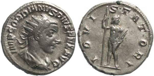 Ancient Coins - Gordian III 238-244AD Antoninianus - IOVI STATORI