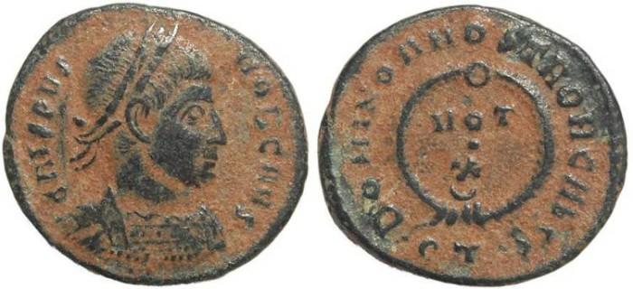Ancient Coins - Roman coin of Crispus -  DOMINOR NOSTROR CAESS, VOT X