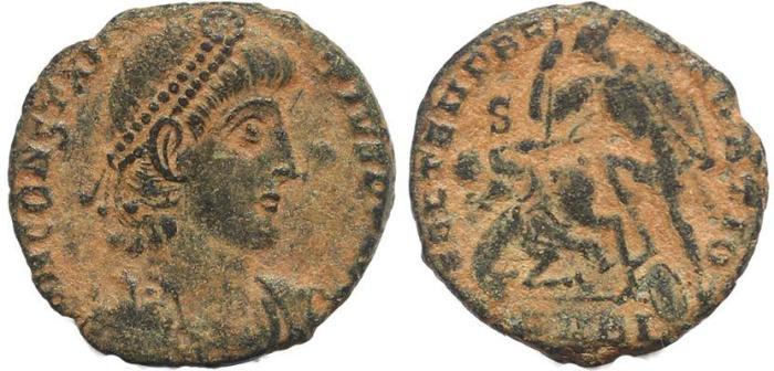 Ancient Coins - Roman coin of Constantius II - FEL TEMP REPARATIO - Antioch Mint