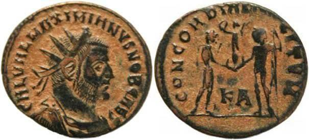 Ancient Coins - Galerius as Caesar - Cyzicus Mint