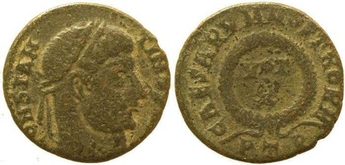 Ancient Coins - Constantine I - Treveri Mint - CAESARVM NOSTRORM - die engraver error