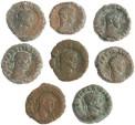 Ancient Coins - 8 Roman Egyptian Potin Tetradrachms