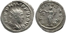 Ancient Coins - Philip I The Arab - Antoninianus - AEQVITAS AVGG