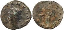 Ancient Coins - Gallienus silvered antoninianus - AEQVITAS AVG