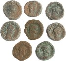 Ancient Coins - 8 Roman Egyptian Potin Tetradrachms